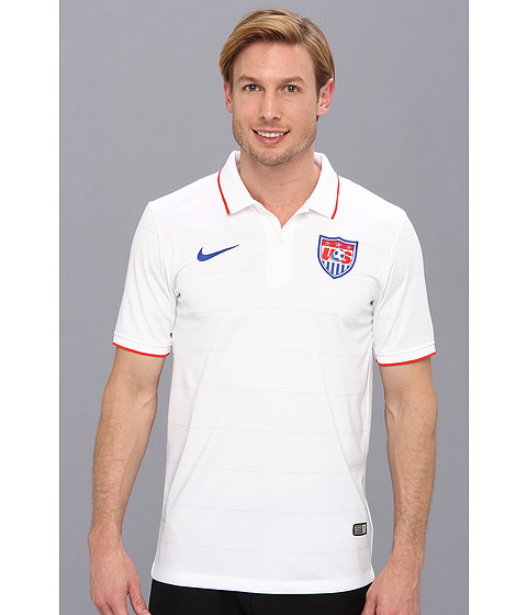 Nike - USA S/S Home Stadium Jersey (Football White/Game Royal) Men's Short Sleeve Pullover