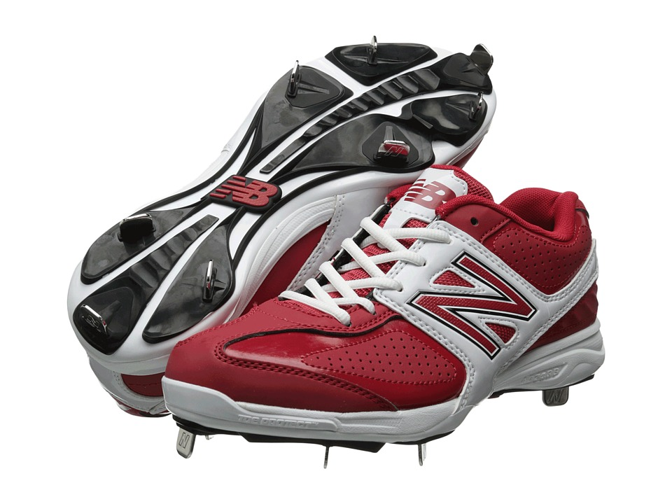 New Balance - MB4040 (Red/White) Men's Cleated Shoes