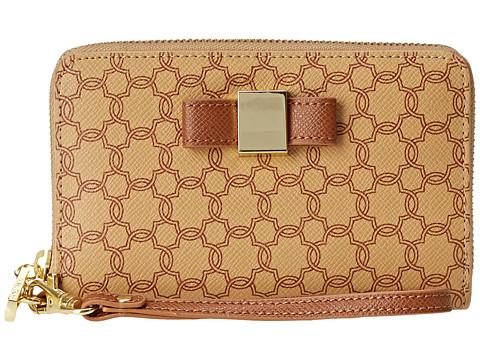 Ivanka Trump - Blair Smartphone Wristlet Signature Logo (Sand) Wristlet Handbags