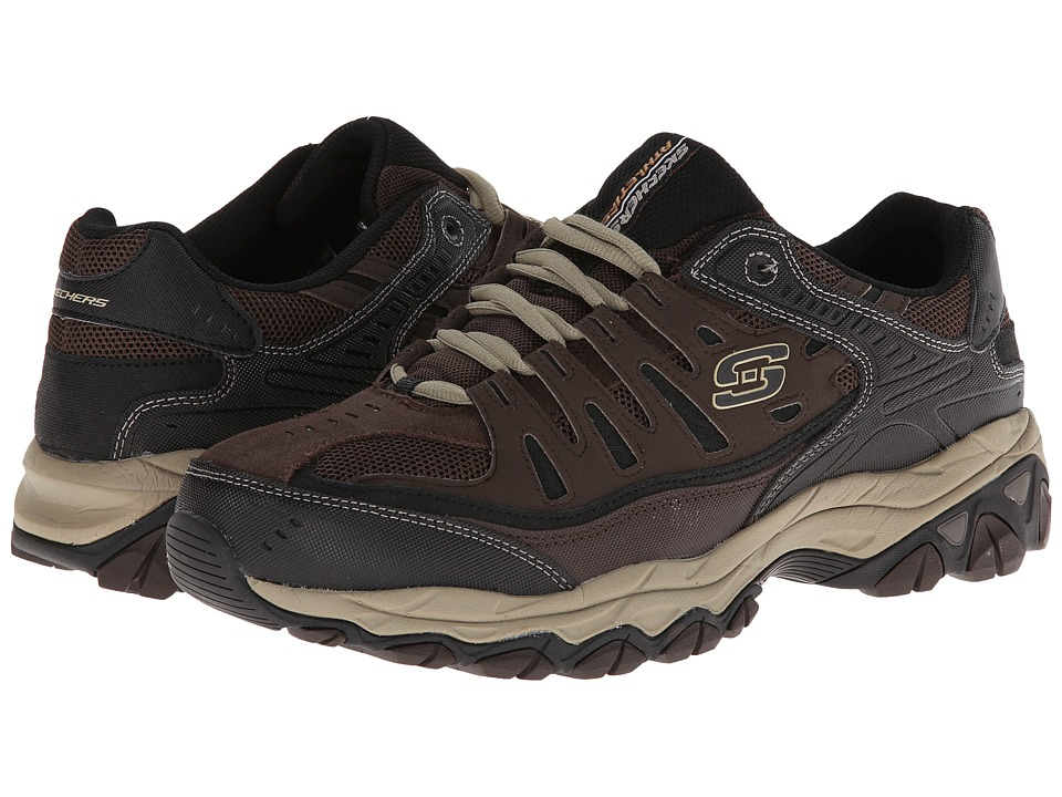 SKECHERS - Afterburn M. Fit (Brown/Taupe) Men's Lace up casual Shoes