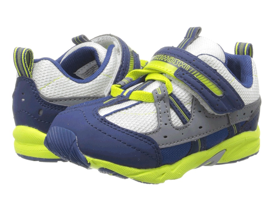 Tsukihoshi Kids - Speed (Toddler) (Cobalt/Lime) Boy's Shoes
