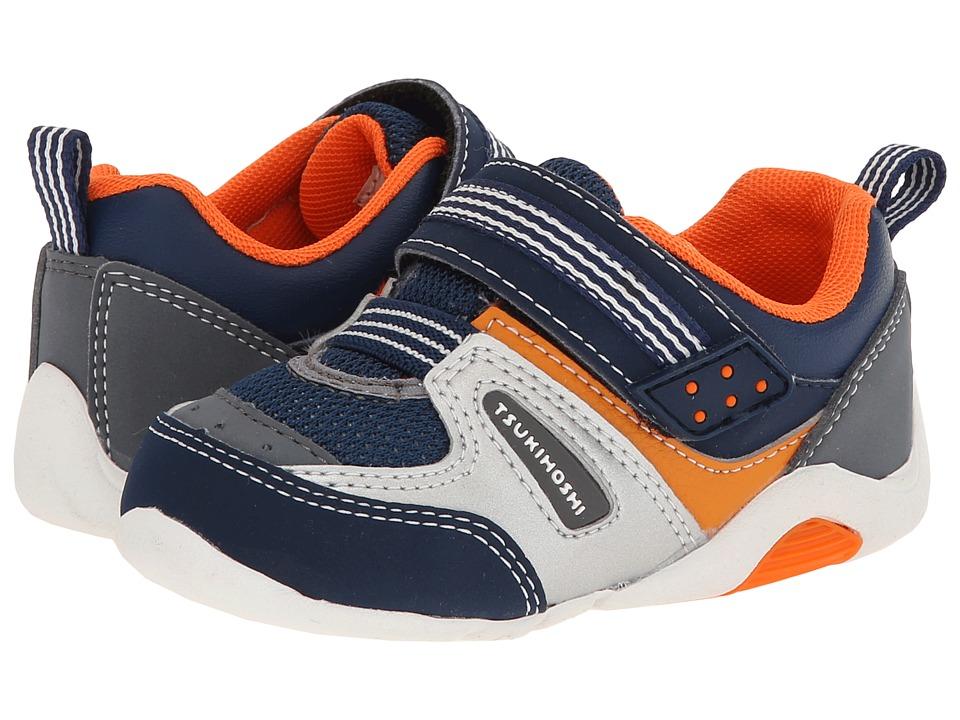 Tsukihoshi Kids - Neko (Toddler) (Cobalt/Orange) Boys Shoes