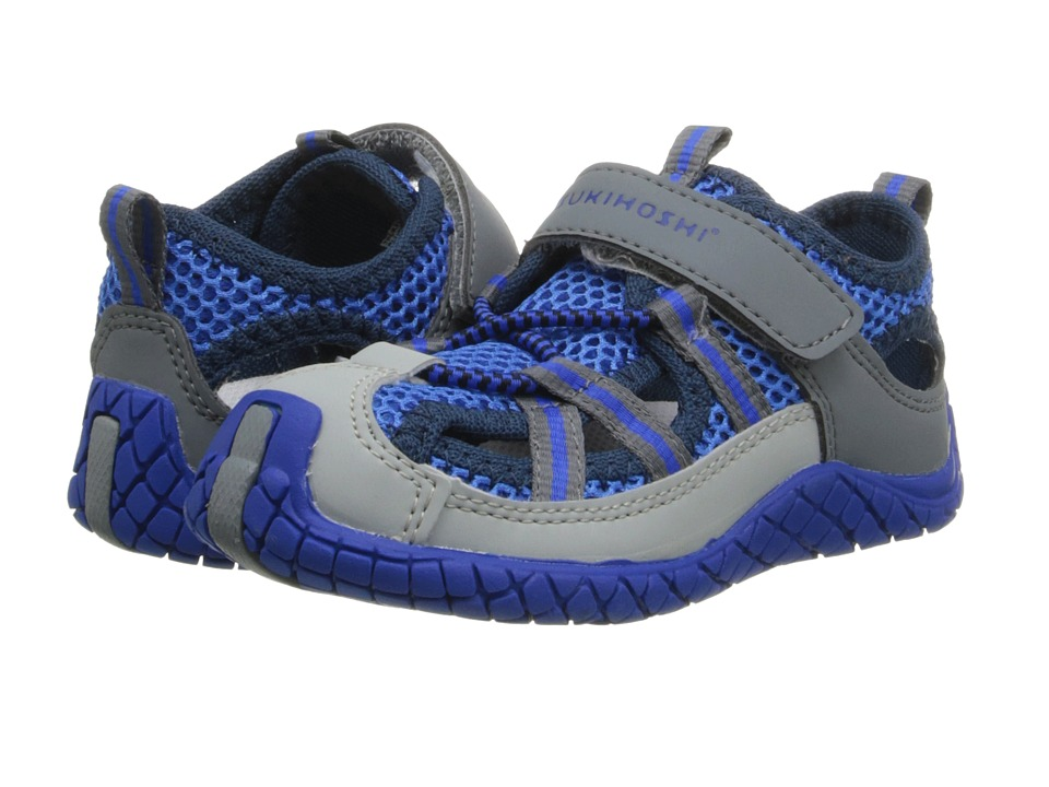 Tsukihoshi Kids - Malibu (Toddler/Little Kid) (Blue/Gray) Boys Shoes