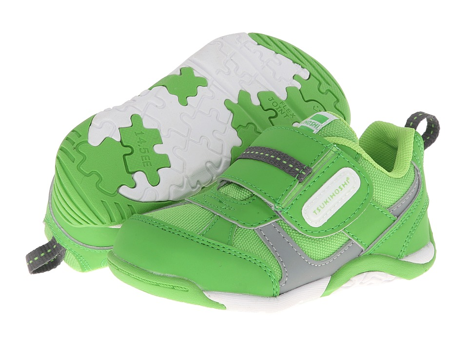 Tsukihoshi Kids - Flare (Toddler/Little Kid) (Green/Gray) Boys Shoes