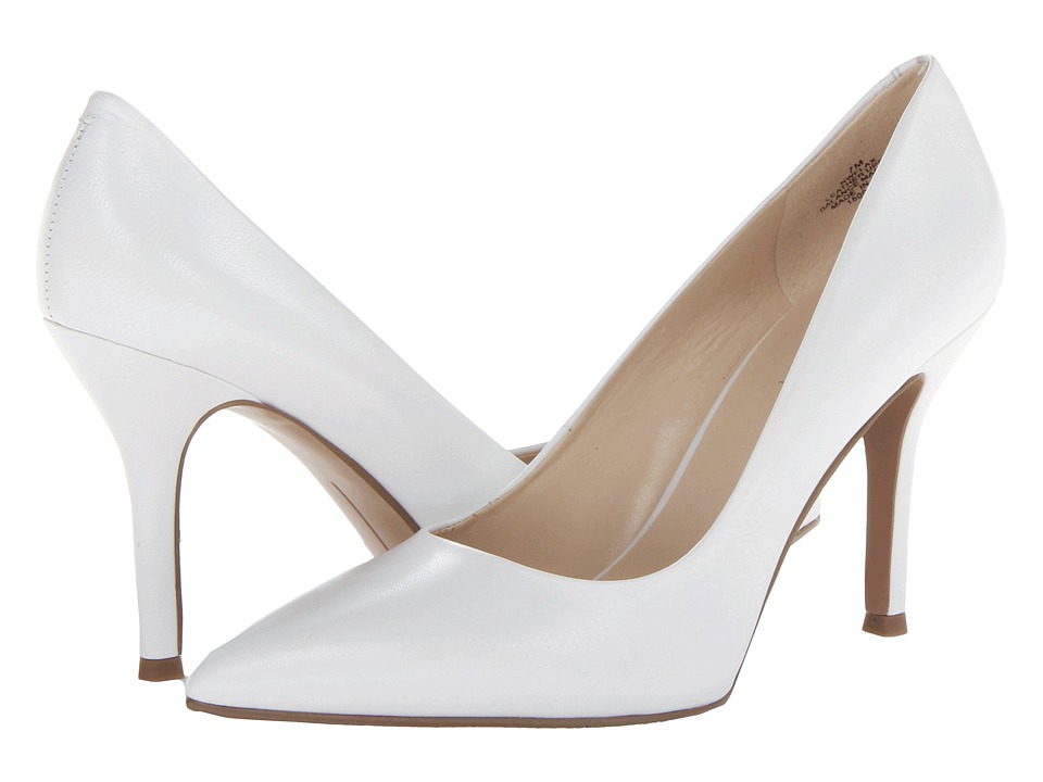 Nine West - Flax (White/White Leather) High Heels