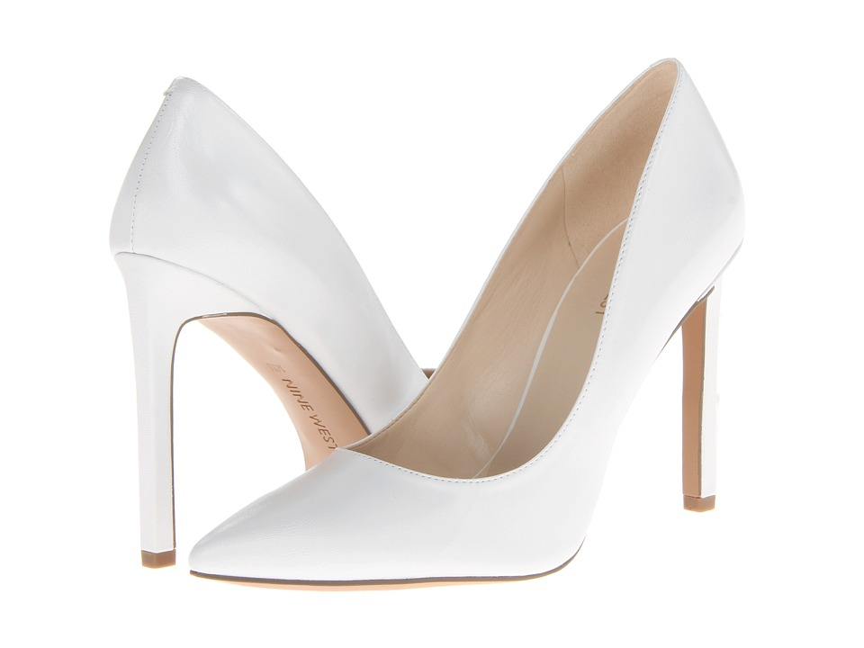Nine West - Tatiana (White Leather) High Heels