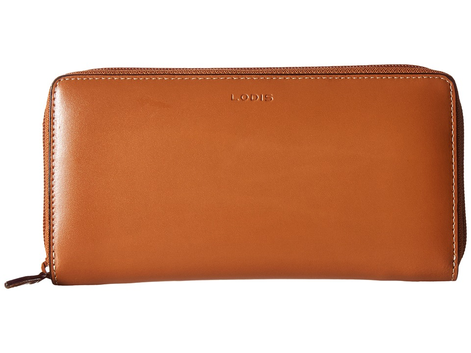 Lodis Accessories - Audrey Iris Zip Around (Toffee) Checkbook Wallet