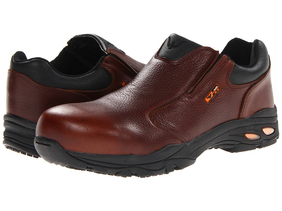 Thorogood - Safety Toe Slip On (Brown Tumbled) Men's Work Boots