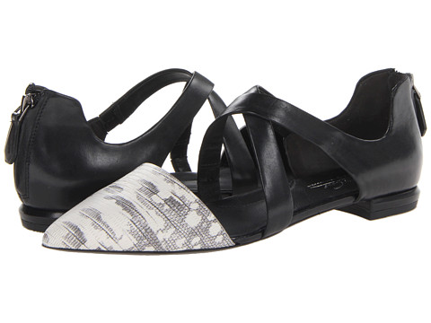 Kenneth Cole New York - Milton (Black/White Lizard) Women's Shoes