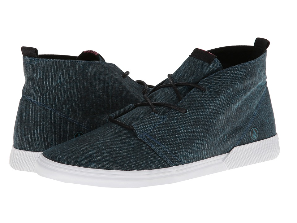 Volcom - De Fray (Teal Smoke/Washed Poly Print) Men's Shoes