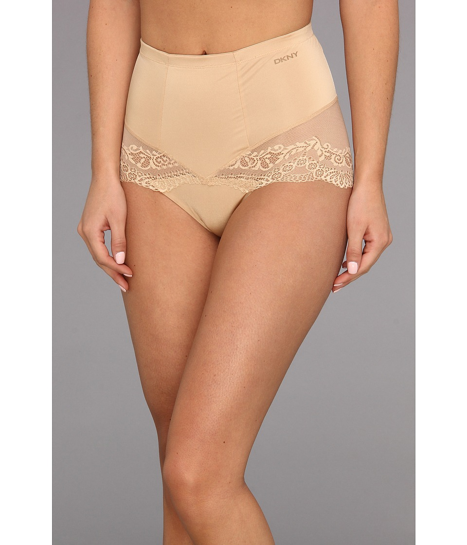 DKNY Intimates - Underslimmers Lace Curves Shaper Panty (Skinny Dip) Women's Underwear