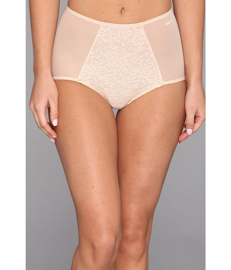 DKNY Intimates - Underslimmers Signature Lace Brief Panty (Skinny Dip) Women's Underwear