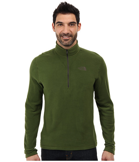 The North Face - TKA 100 Glacier 1/4 Zip (Scallion Green) Men's Long Sleeve Pullover