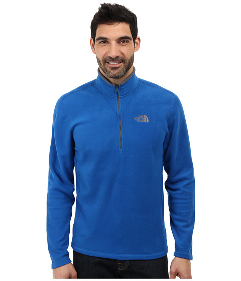 The North Face - TKA 100 Glacier 1/4 Zip (Snorkel Blue) Men's Long Sleeve Pullover