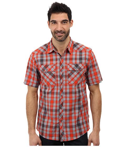 The North Face - Orangahang Woven (Zion Orange) Men's Short Sleeve Button Up