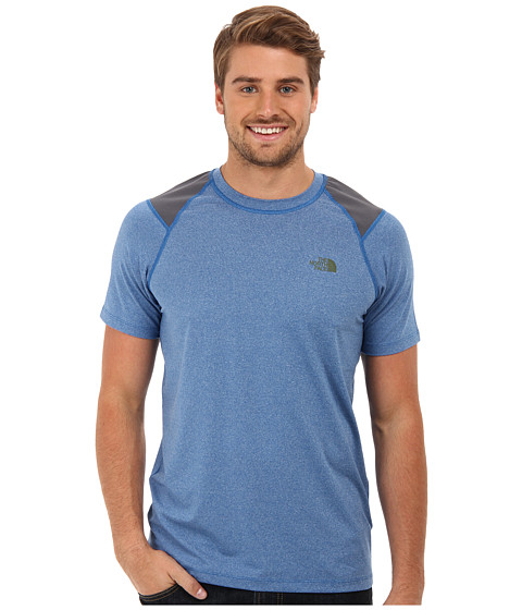 The North Face - S/S Paramount Tech Tee (Snorkel Blue Heather) Men's Short Sleeve Pullover