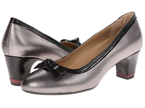 Oh! Shoes - Heaven (Pewter/Black Napa Patent) High Heels