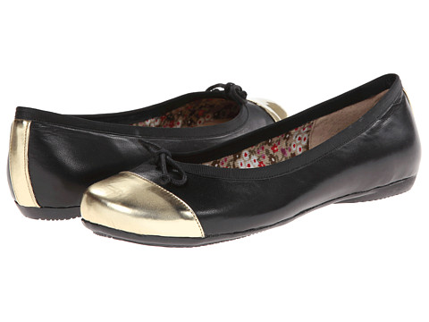 Oh! Shoes - Bailey (Gold/Black Napa Patent) Women