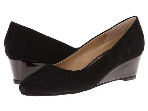 Oh! Shoes - Willow (Black Napa Patent) Women's Wedge Shoes