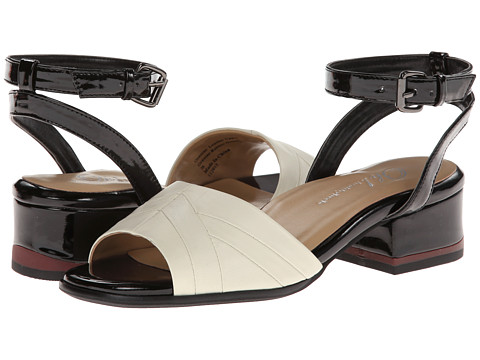 Oh! Shoes - Kimberly (Ivory/Black Napa Patent) Women