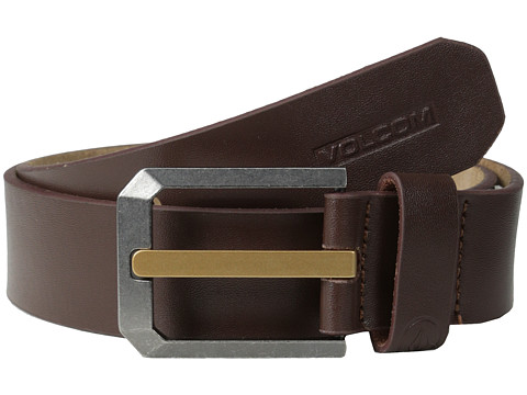 Volcom - Low Ball 1 1/3 Strap Belt (Brown) Men's Belts
