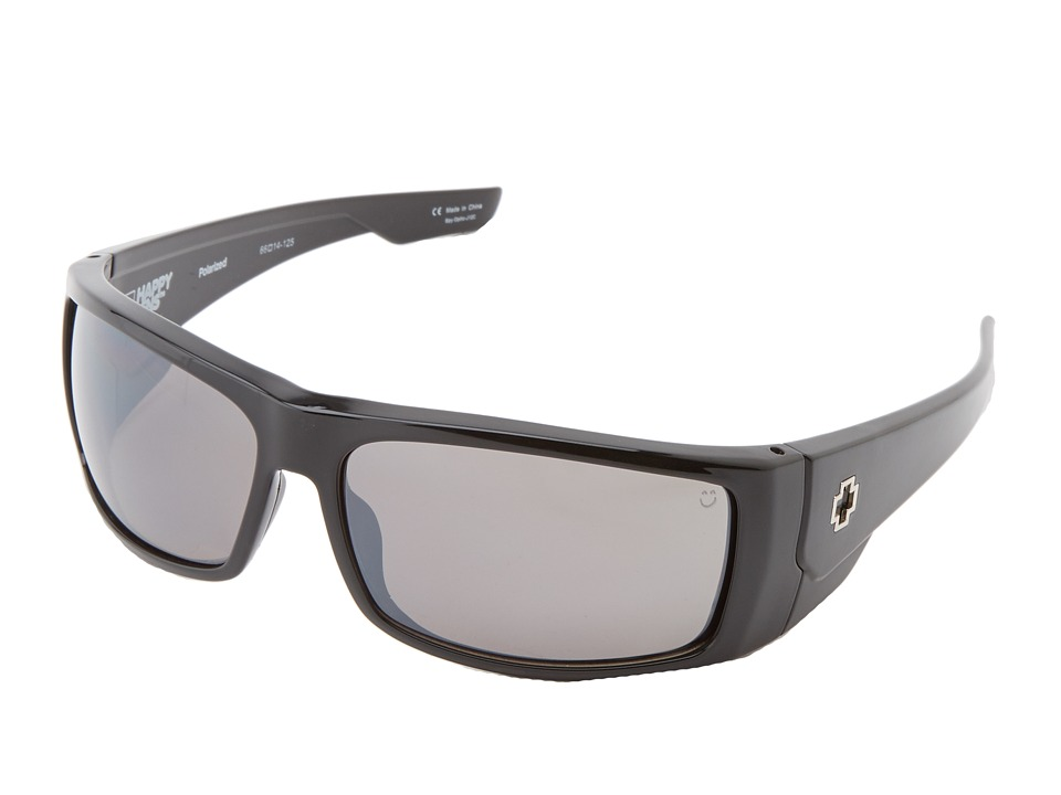 Spy Optic - Konvoy (Black - Happy Bronze Polar w/ Black Mirror) Sport Sunglasses