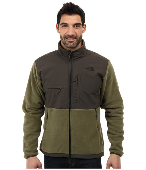 The North Face - Denali Jacket (Recycled Burnt Olive Green/Black Ink Green) Men