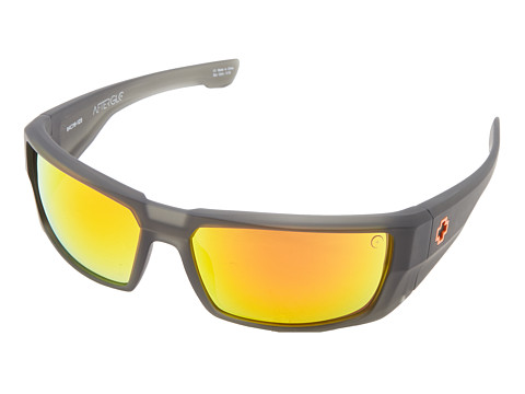 Spy Optic - Dirk (Afterglo Lava Flow - Grey w/ Orange Spectra) Sport Sunglasses