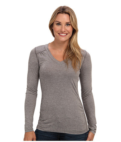 The North Face - L/S RDT V-Neck (Pache Grey Heather) Women's T Shirt