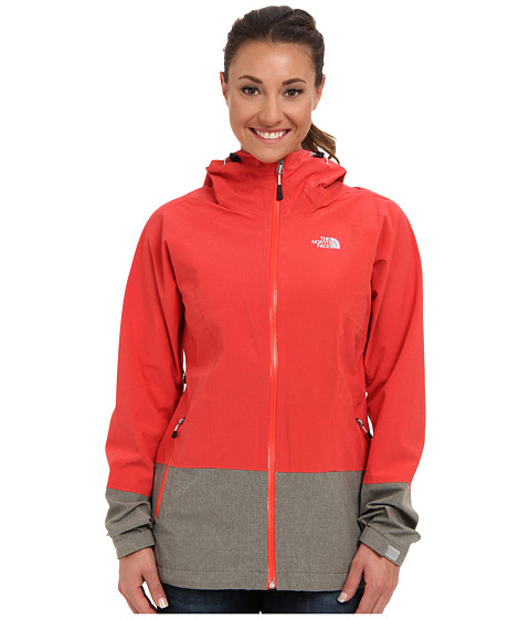 The North Face - Bashie Stretch Jacket (Rambutan Pink/High Rise Grey Heather) Women's Coat
