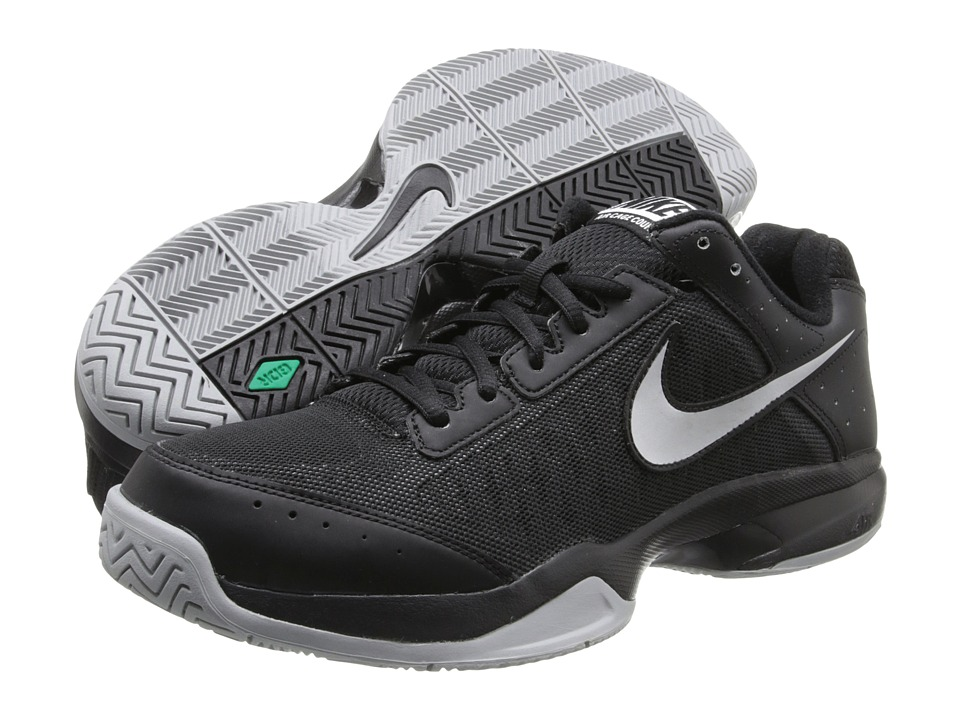 Nike - Air Cage Court (Black/Black/Metallic Silver) Men's Tennis Shoes