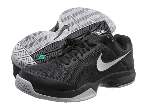 Nike - Air Cage Court (Black/Black/Metallic Silver) Men