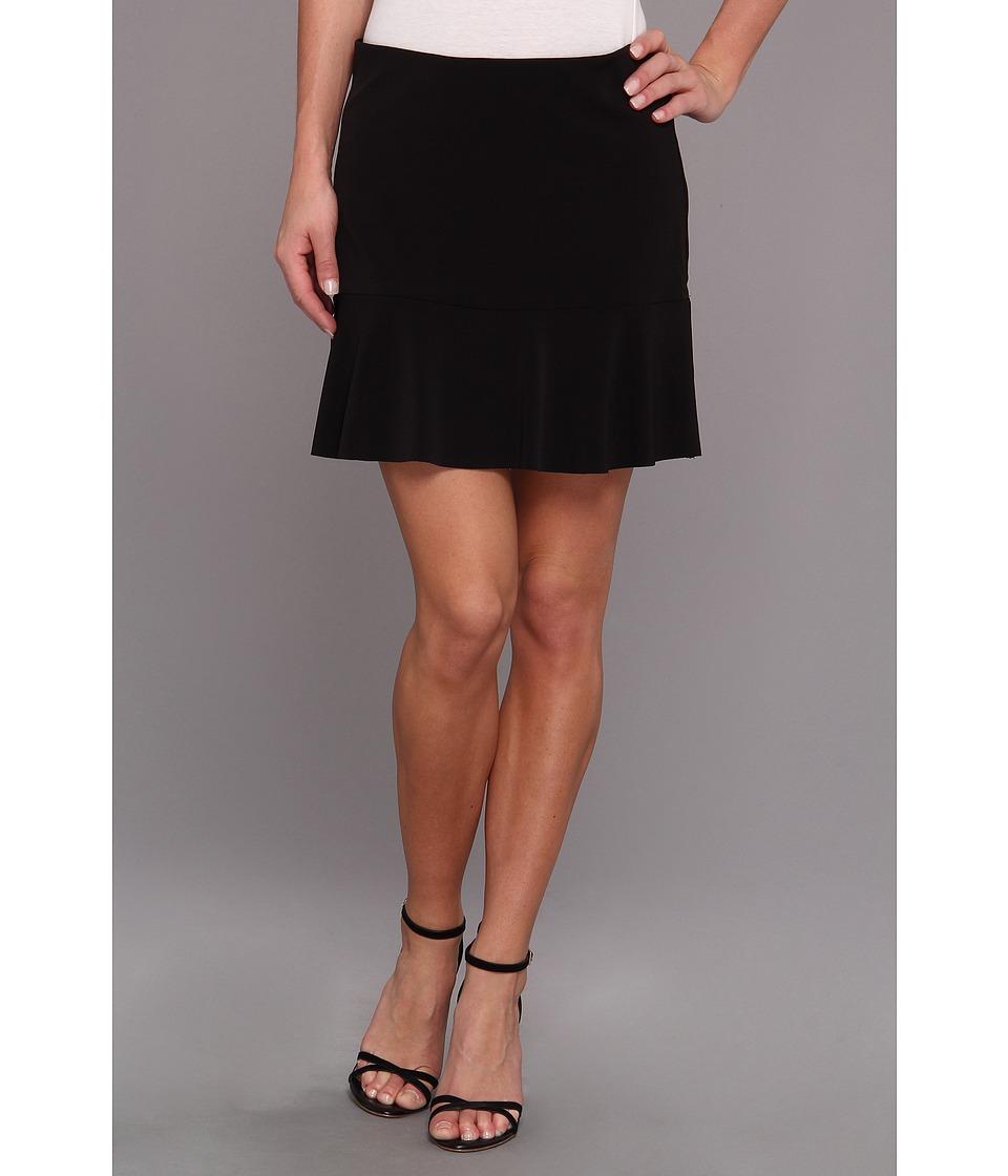 Graham and Spencer - JJS3999 Soft Suiting Skirt (Black) Women