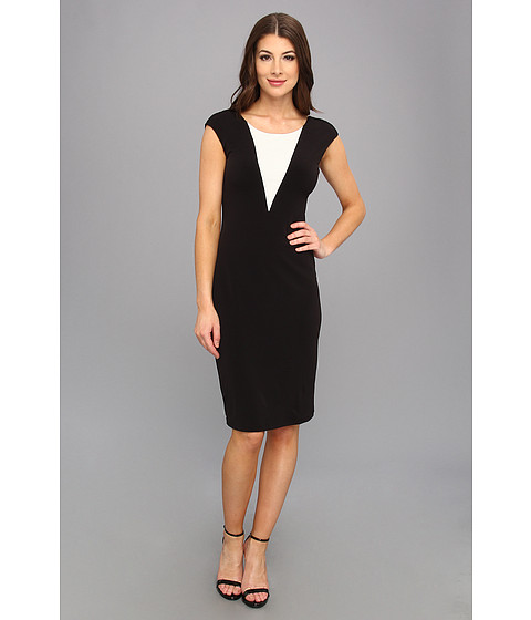 Graham and Spencer - JJD3982 Stretch Jersey Dress (Black) Women's Dress