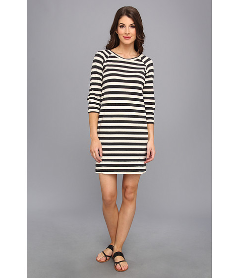 Graham and Spencer - OSD3967 Old School Stripe Dress (Charcoal/Natural) Women
