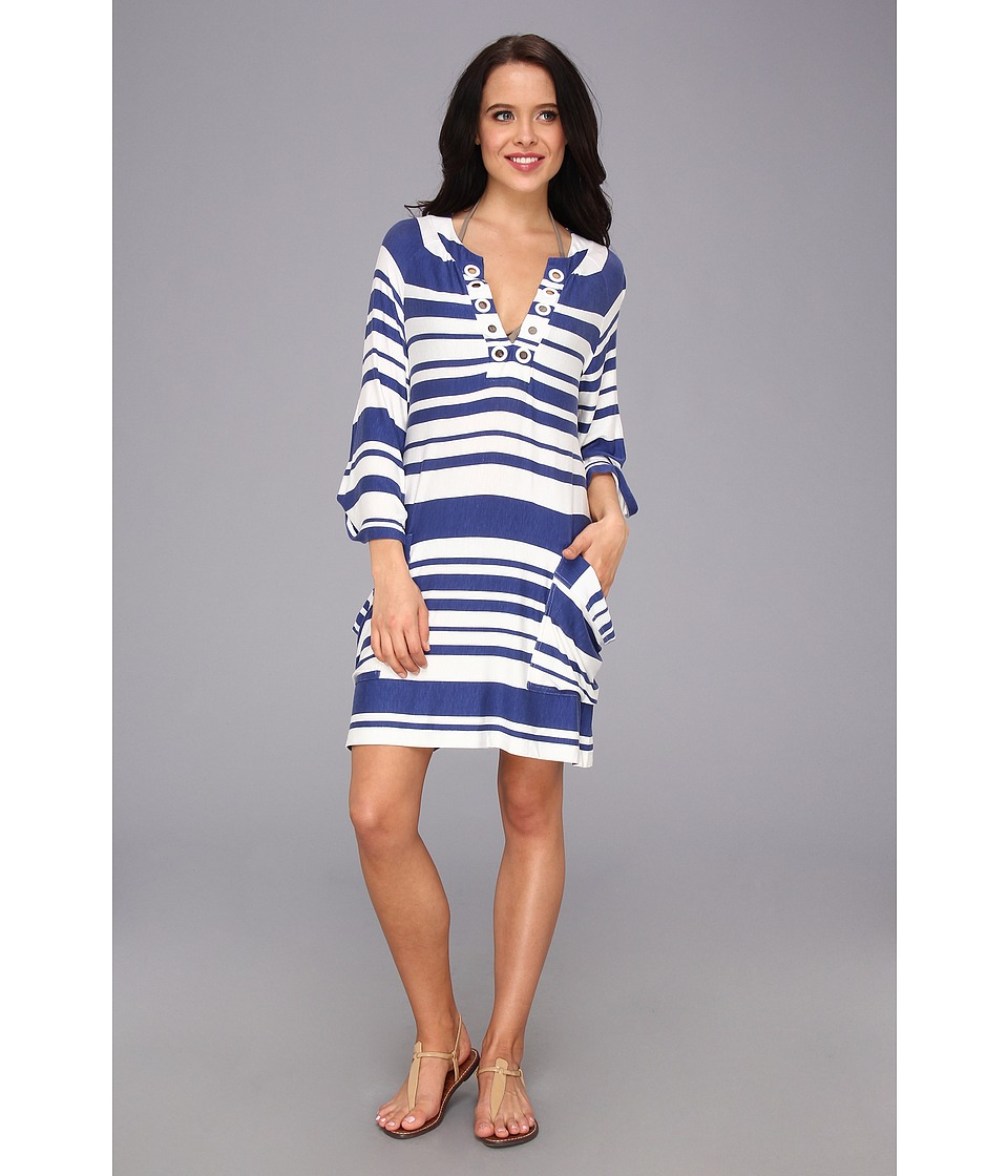 Nanette Lepore - Sportif Stripe Tunic (Navy) Women's Swimwear