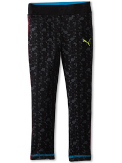 SALE! $11.99 - Save $22 on Puma Kids Printed Fold Over Elastic Legging (Little Kids) (Black) Apparel - 64.74% OFF $34.00