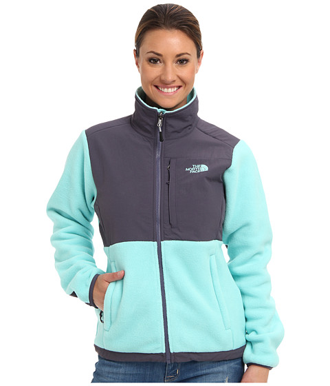 The North Face - Denali Jacket (Recycled Mint Blue/Greystone Blue) Women's Coat