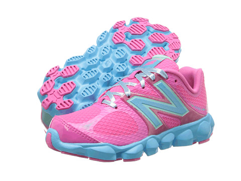 New Balance Kids - K4090 (Little Kid) (Pink/Blue) Girls Shoes