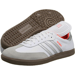 Samba Leather (Running White/Metallic Silver/Infrared) Classic Shoes