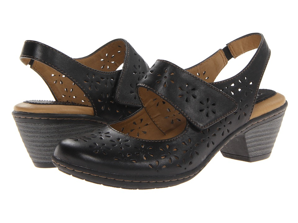 Softspots - Safia (Black) Women's Slip-on Dress Shoes