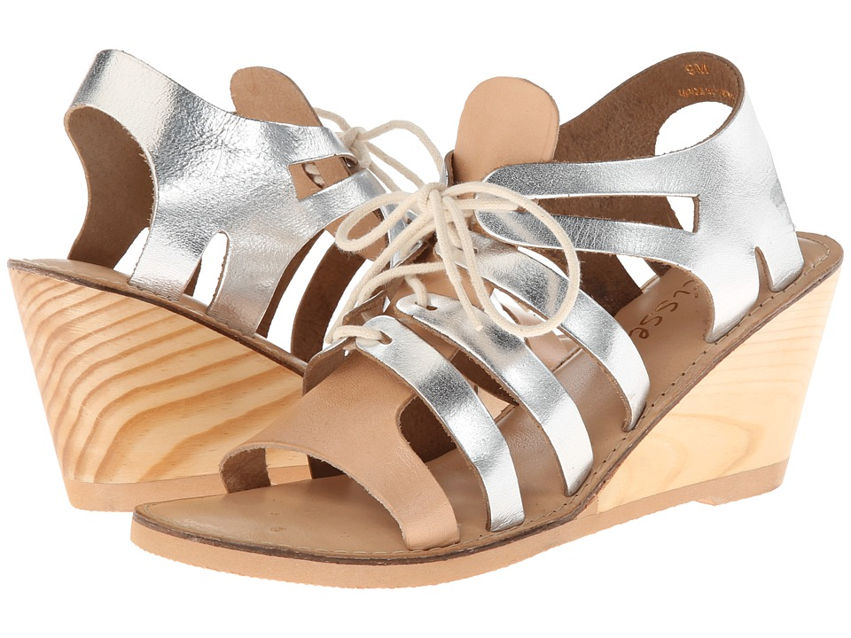 Matisse - Begin (Natural/Silver) Women's Wedge Shoes
