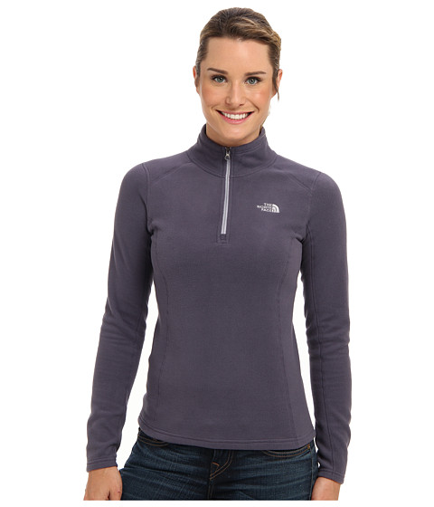 The North Face - Glacier 1/4 Zip (Greystone Blue/Dapple Grey) Women