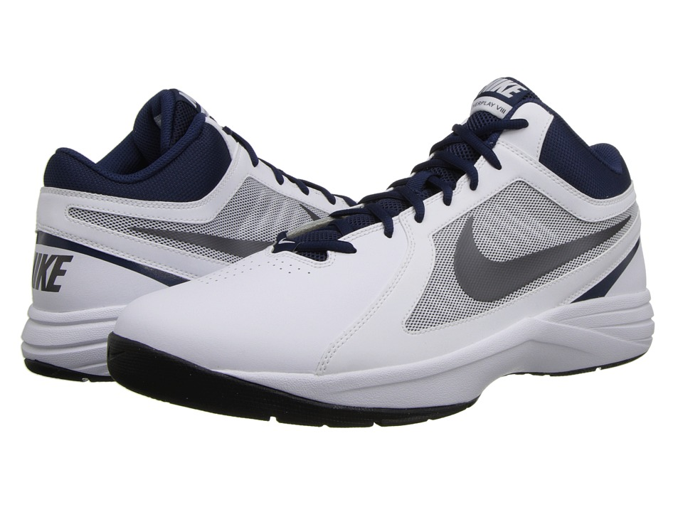 Nike - The Overplay VIII (White/Metallic DR) Men's Basketball Shoes