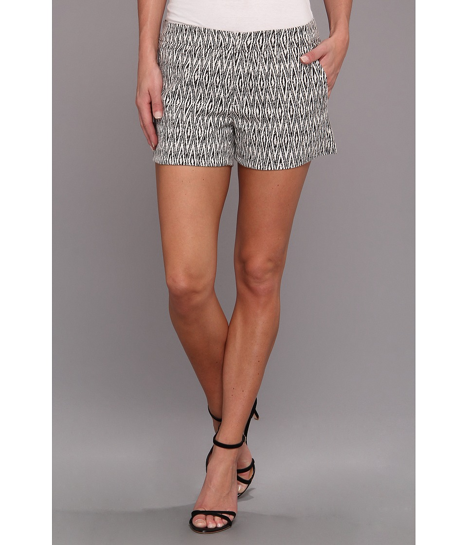 Graham and Spencer - JQP3976 Mali Stretch Jacquard Short (Black/White) Women's Shorts