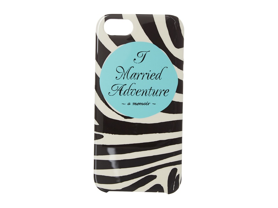 Kate Spade New York - I Married Adventure Phone Case for iPhone 5 (Black/Cream) Cell Phone Case