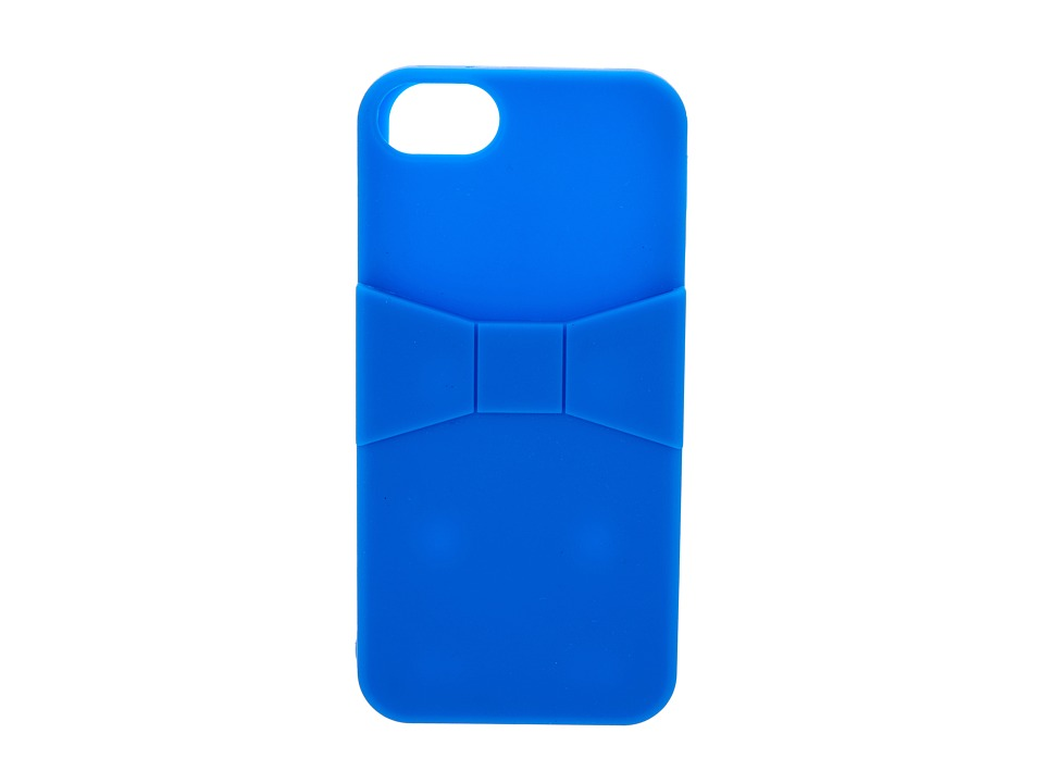 Kate Spade New York - Bow Pocket Silicone Phone Case for iPhone 5 (Azure Blue) Cell Phone Case