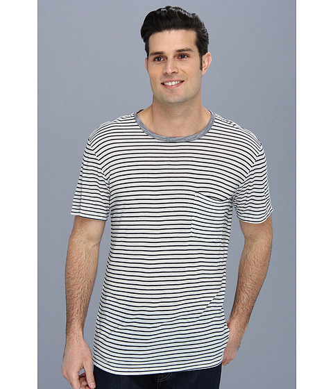 7 For All Mankind - Mariner Stripe Pocket Tee (Navy) Men's T Shirt