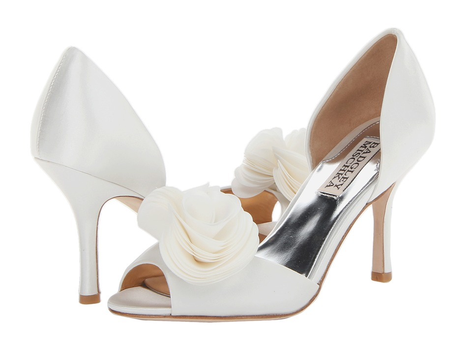 Badgley Mischka - Thora (White Satin) High Heels