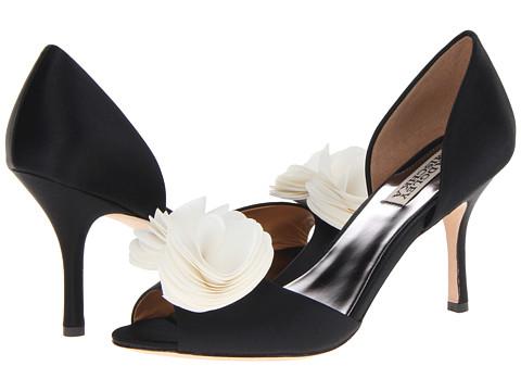 Badgley Mischka - Thora (Black/White Satin) High Heels